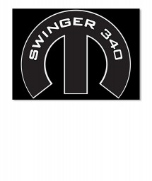 Swinger 340 Mopar M Landscape Sticker $6.00