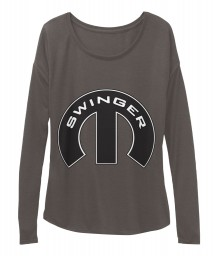 Swinger Mopar M Dark Grey Heather BELLA+CANVAS Women's  Flowy Long Sleeve Tee $43.99