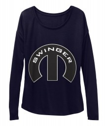 Swinger Mopar M Midnight BELLA+CANVAS Women's  Flowy Long Sleeve Tee $43.99