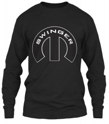Swinger Mopar M Black Gildan 6.1oz Long Sleeve Tee $25.99