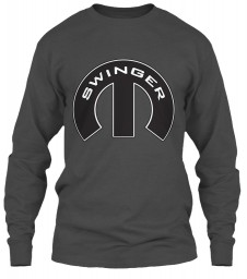 Swinger Mopar M Charcoal Gildan 6.1oz Long Sleeve Tee $25.99