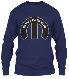 Swinger Mopar M Navy Gildan 6.1oz Long Sleeve Tee $25.99