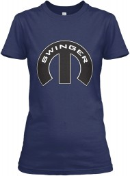 Swinger Mopar M Navy Gildan Women's Relaxed Tee $21.99