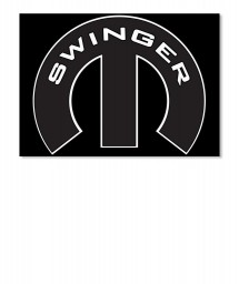 Swinger Mopar M Landscape Sticker $6.00