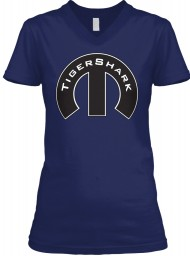 TigerShark Mopar M Navy  Women's V-Neck Tee $23.99