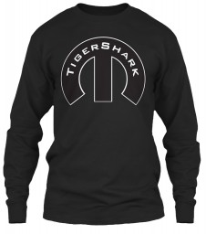 TigerShark Mopar M Black Gildan 6.1oz Long Sleeve Tee $25.99
