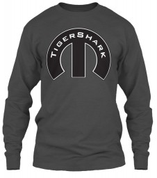 TigerShark Mopar M Charcoal Gildan 6.1oz Long Sleeve Tee $25.99