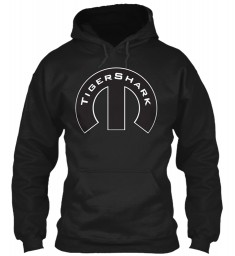 TigerShark Mopar M Black Gildan 8oz Heavy Blend Hoodie $38.99