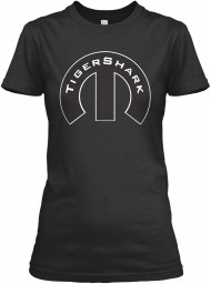 TigerShark Mopar M Black Gildan Women's Relaxed Tee $21.99