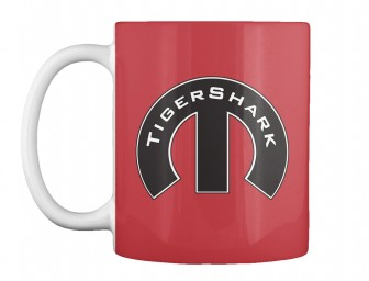 TigerShark Mopar M Bright Red Teespring Mug $14.99