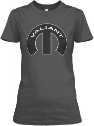 Valiant Mopar M Charcoal Gildan Women's Relaxed Tee $21.99
