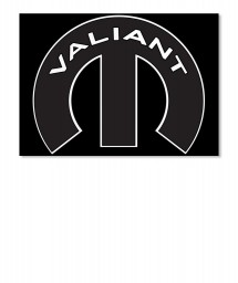 Valiant Mopar M Landscape Sticker $6.00
