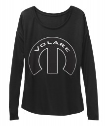 Volare Mopar M Black BELLA+CANVAS Women's  Flowy Long Sleeve Tee $43.99